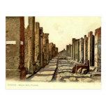 Pompeya, calle con las progresiones toxicológicas postales