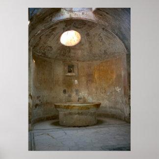 Pompeya, casa romana del baño póster