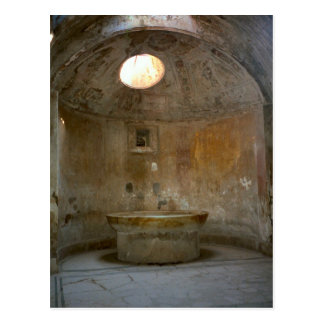 Pompeya, casa romana del baño postales
