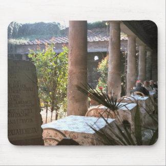 Pompeya, chalet usado como cafetería tapetes de raton