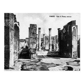 Pompeya, chalet y Vesuvio Postal