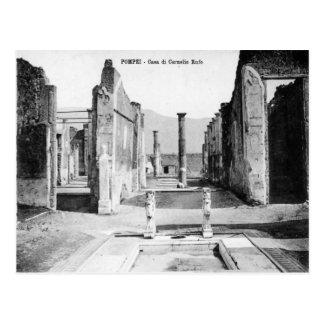 Pompeya, chalet y Vesuvio Tarjetas Postales