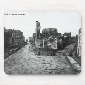 Pompeya, cruces en área comercial tapetes de raton