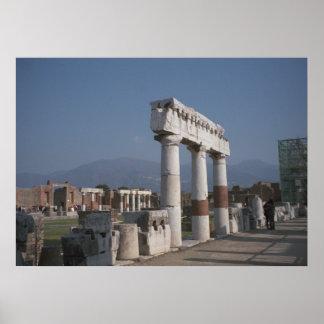 Pompeya, en el foro póster
