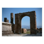 Pompeya, entrada romana poster