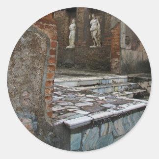 Pompeya - foro pegatina redonda