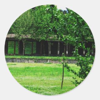 Pompeya - Greenspace con ruinas Pegatina Redonda
