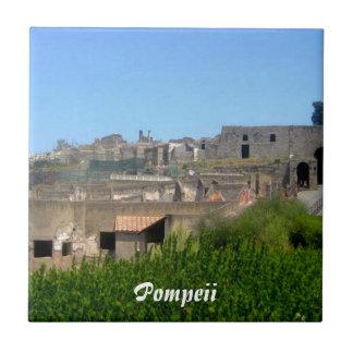 Pompeya Italia Azulejo Cuadrado Pequeño