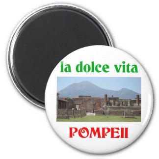 Pompeya Italia Imán Redondo 5 Cm