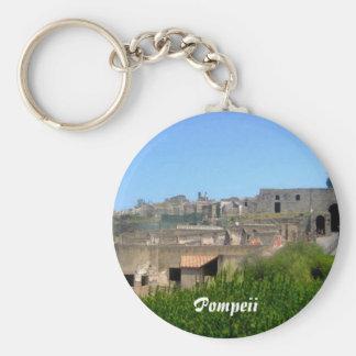 Pompeya Italia Llavero Redondo Tipo Pin