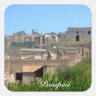 Pompeya Italia Pegatina Cuadrada