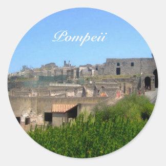 Pompeya Italia Pegatina Redonda