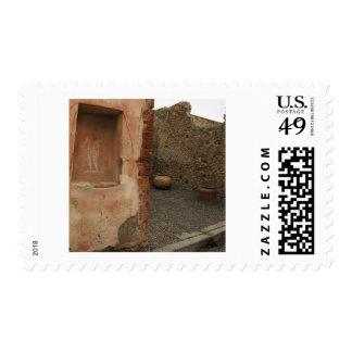 Pompeya - lararium de la pared - pintura en lugar sello