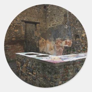 Pompeya - lugar de consumición pegatina redonda