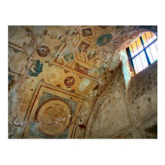 Pompeya, murales en el techo postal