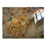 Pompeya, murales en el techo tarjetas postales