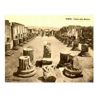Pompeya, patio de la basílica tarjeta postal