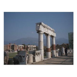 Pompeya, pilares en el foro tarjetas postales