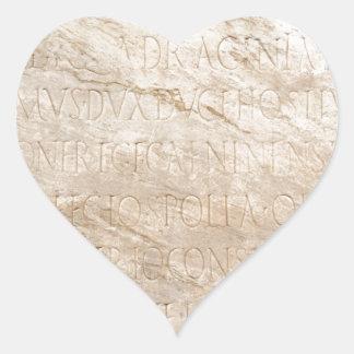 Pompeya que escribe 2 pegatina en forma de corazón