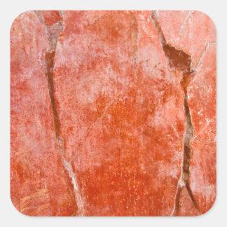 Pompeya rojo pegatina cuadrada
