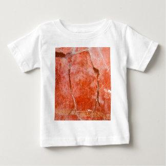 Pompeya rojo playera para bebé