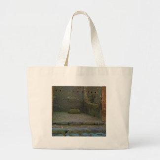 Pompeya - ruina con el buque del vino bolsas de mano
