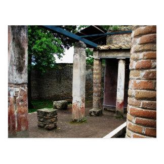 Pompeya - ruinas de un chalet postal