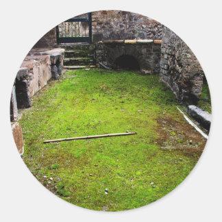 Pompeya - ruinas de una casa pegatina redonda