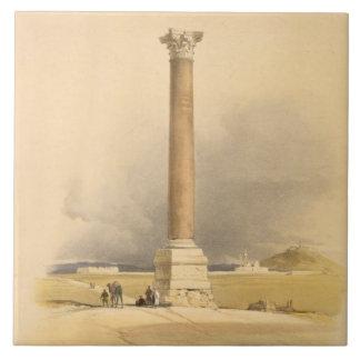 "Pompey's Pillar, Alexandria, from ""Egypt and Nubia Ceramic Tile"