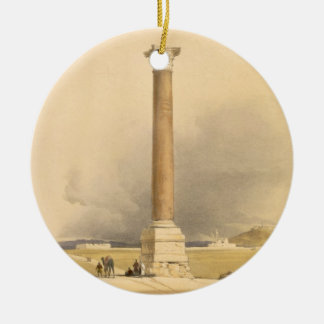 """Pompey's Pillar, Alexandria, from """"Egypt and Nubia Ornament"""