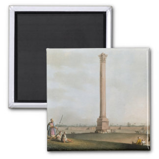 Pompey's Pillar, plate 14 from 'Views in Egypt', e 2 Inch Square Magnet