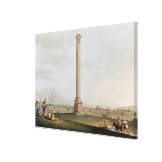 Pompey's Pillar, plate 14 from 'Views in Egypt', e Stretched Canvas Prints