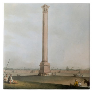 Pompey's Pillar, plate 14 from 'Views in Egypt', e Ceramic Tile