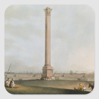 Pompey's Pillar, plate 14 from 'Views in Egypt', e Square Sticker