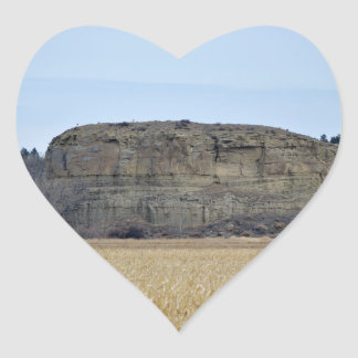 Pompeys Pillar Rock Heart Stickers