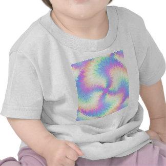 Pompom en colores pastel del arco iris camiseta