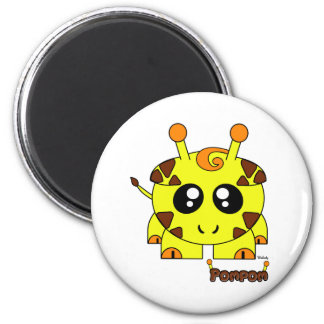 Pompom Pudgie Pet 2 Inch Round Magnet