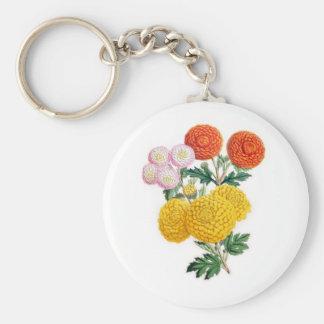 Pompon Chrysanthemums Keychain