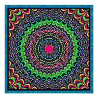 Pompous Colors Radiation Poster