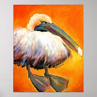 Pompous Pelican Poster