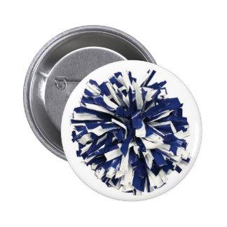 Poms azul y blanco pins