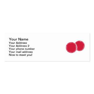 Poms del pom de la animadora tarjetas de visita mini
