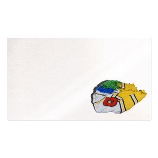 Poms del pom de la letra del suéter del ganador de tarjetas de visita