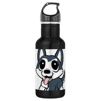 pomsky cartoon.png stainless steel water bottle