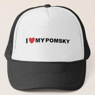 pomsky love trucker hat