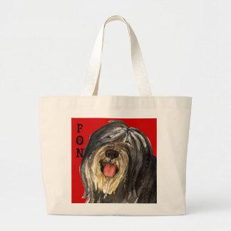 PON Color Block Large Tote Bag