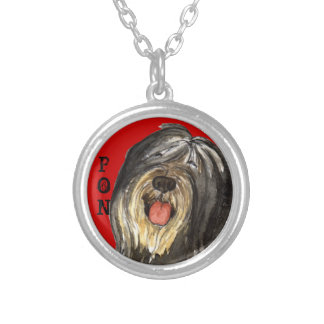 PON Color Block Silver Plated Necklace