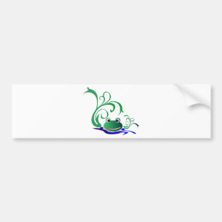 pon LINDO del verde del agua de la rana de la RANA Pegatina Para Auto