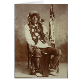 Ponca Chief White Eagle greeting card