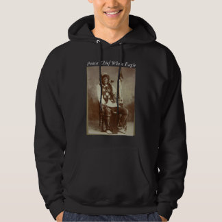 Ponca Chief White Eagle mens hoodie